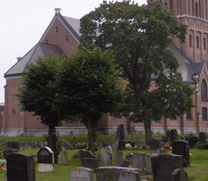 Graves and church