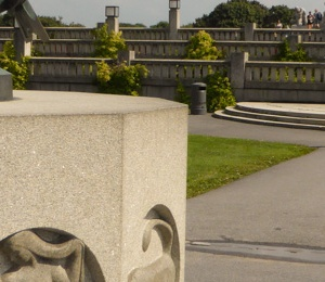 The Vigeland Park with lots of sculptures