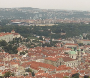 View from Petrin Lookout Tower